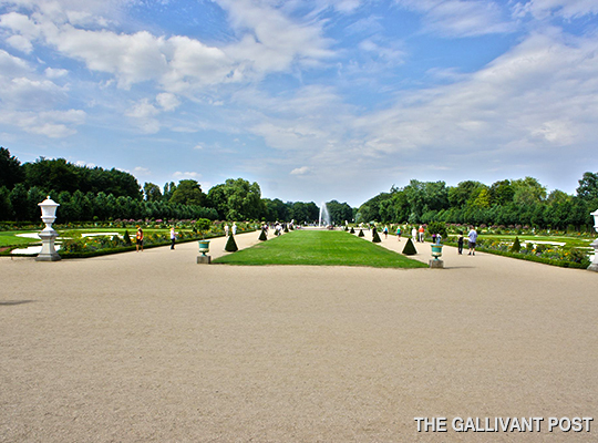 The expansive ornamental gardens of Sanssouci
