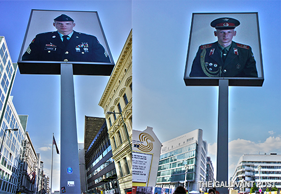 The Allies and the Axis represented at Checkpoint Charlie