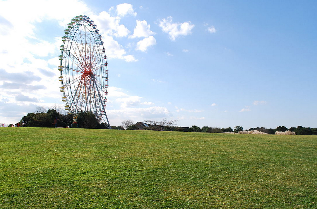 When the kids get cranky, bring them over to the Pleasure Garden where they can go on rides like this giant Ferris Wheel.