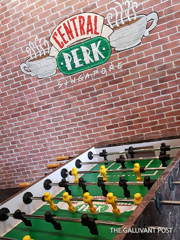 Chandler and Joey's pool table in Central Perk