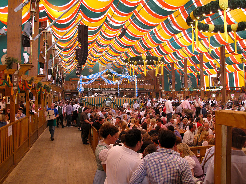 The famous Oktoberfest in Munich