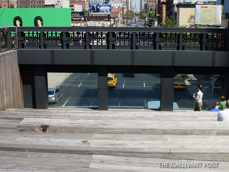 Watch traffic go by at the High Line in New York