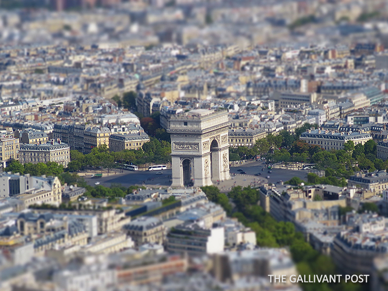 Arc de Triomphe from the top of Eiffel Tower