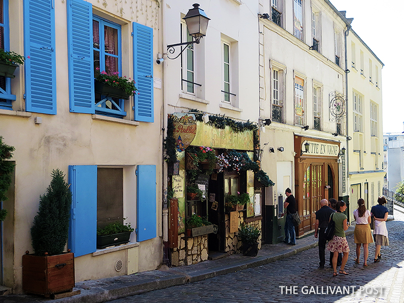 Shops in Monmartre, Paris.