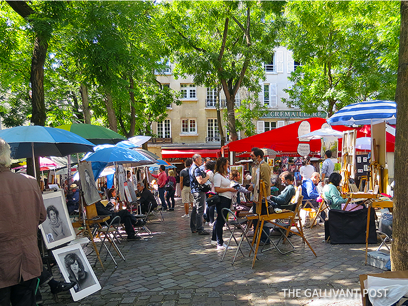 Monmartre quarters in Paris