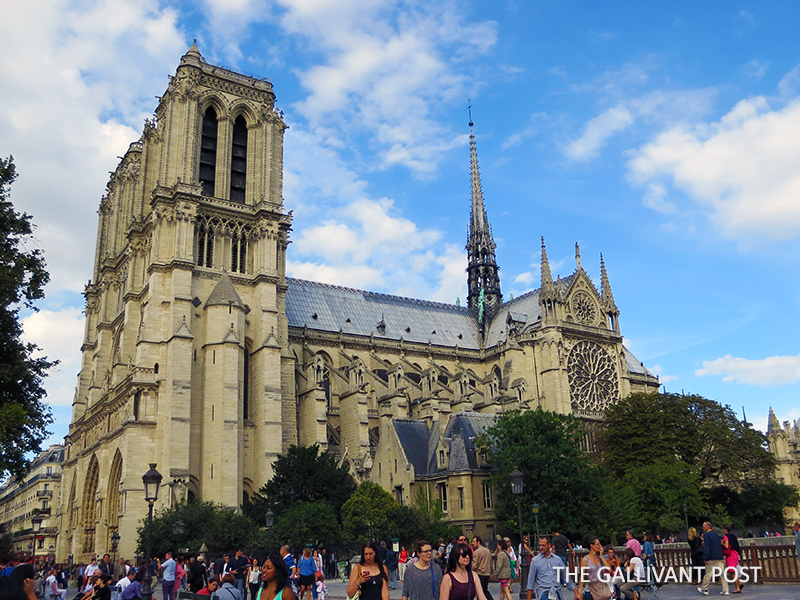 Drinking in the magnificent Notre Dame