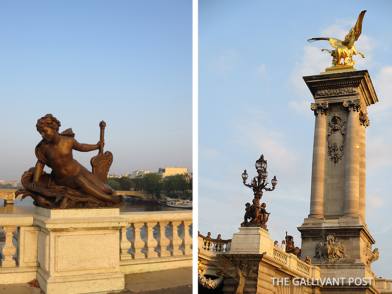 Pont Alexandre III up close in Paris.