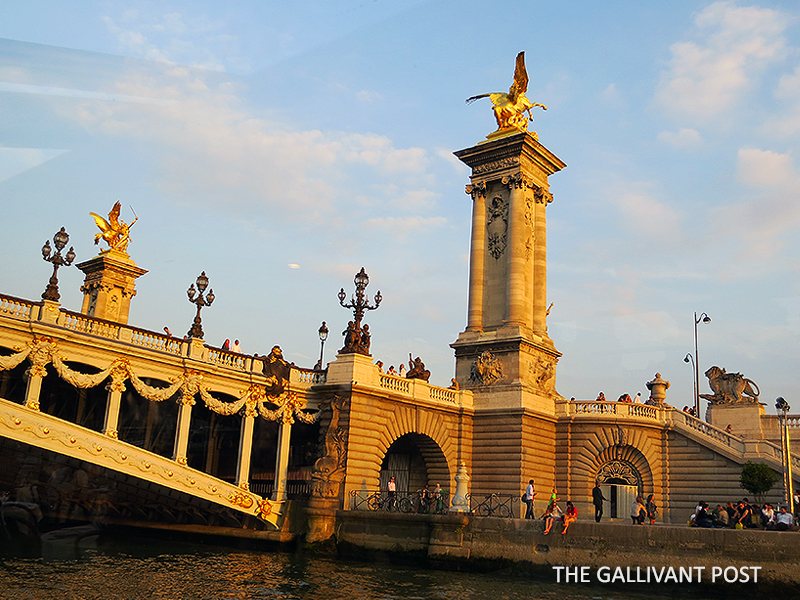 Pont Alexandre III bridge in Paris
