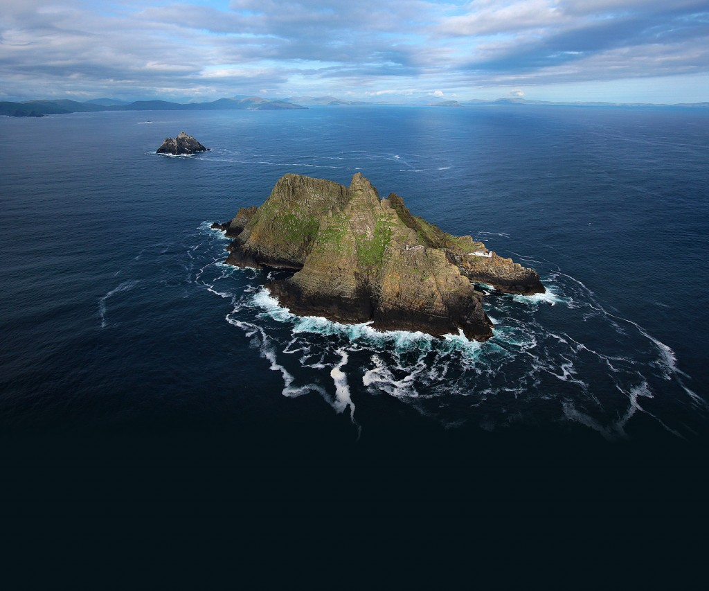 Aerial view of Skellig Michael Island