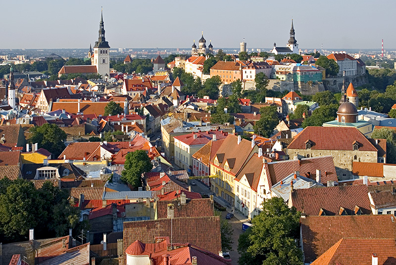Overview of Tallinn Old Town