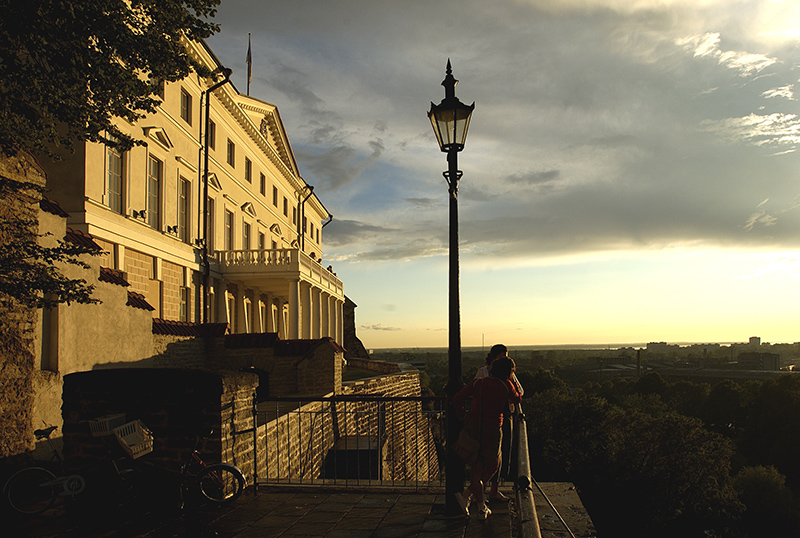 Toompea Hill allows for a sweeping view of the city.