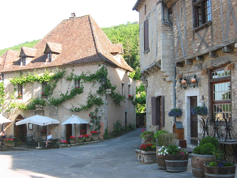 The homely restaurants at Saint Cirq Lapopie