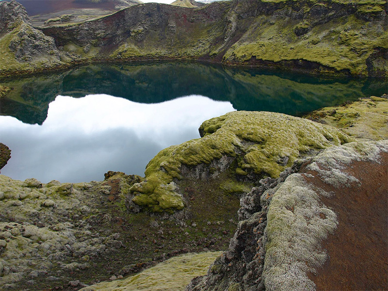 Eldhraun Lava Field crater