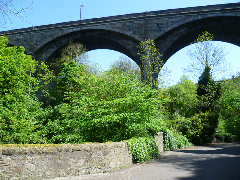 Dean Bridge, with four arches