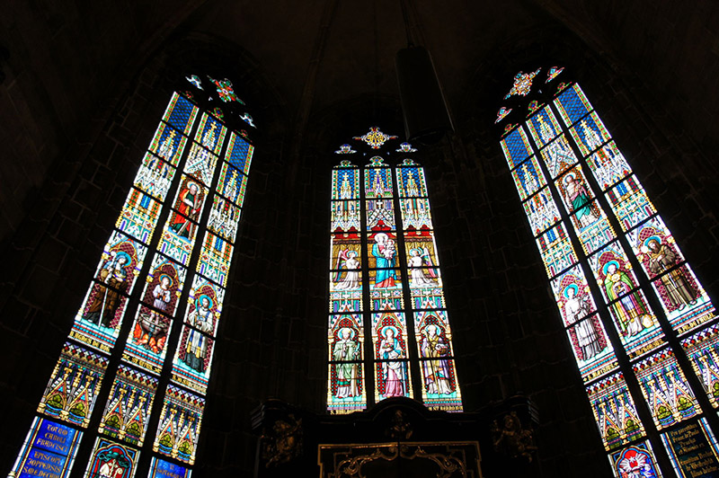 Inside the Prague cathedral